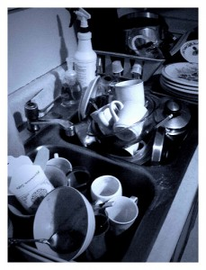 Don't leave dirty dishes for your roommates to deal with
